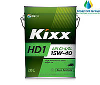 Моторное масло для дизельных двигателей  KIXX HD1 15W-40 20л