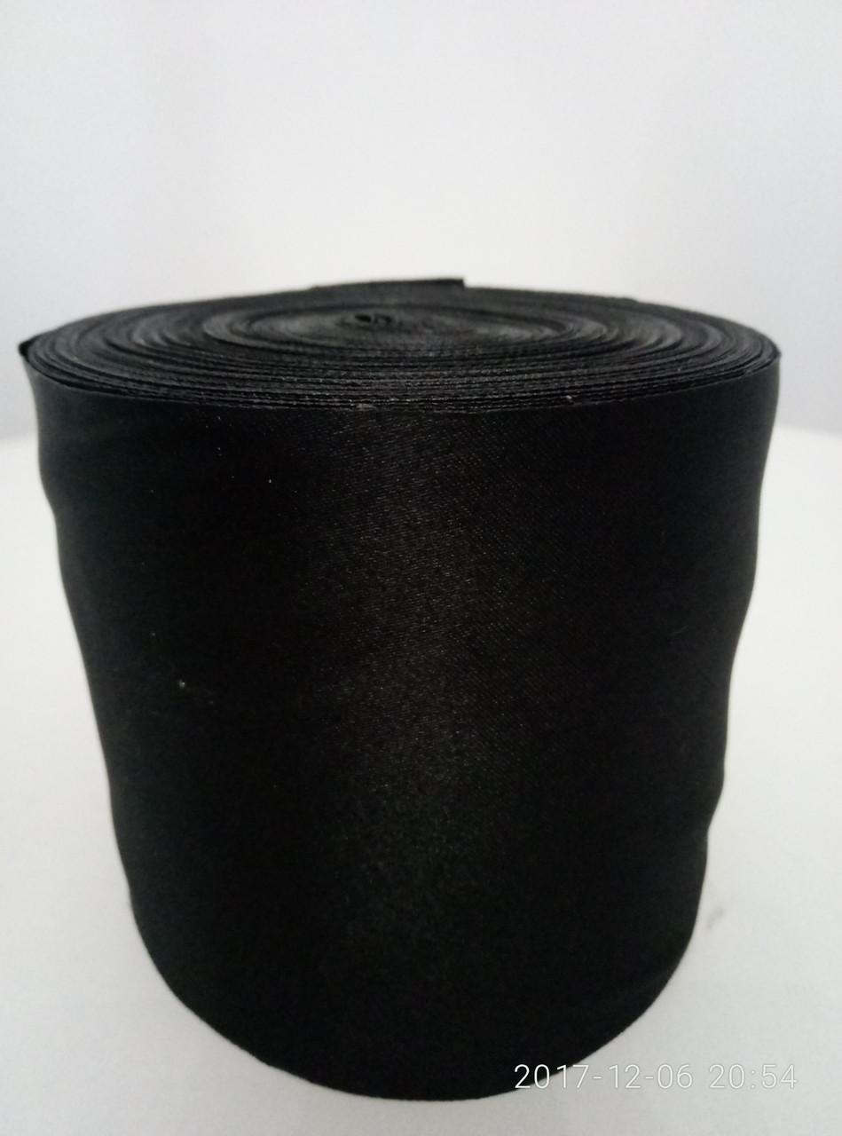 Лента черная атласная
