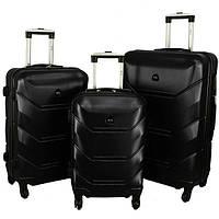 Дорожный Чемодан сумка Carbon 720 набор 3 штуки черный Поликарбонат