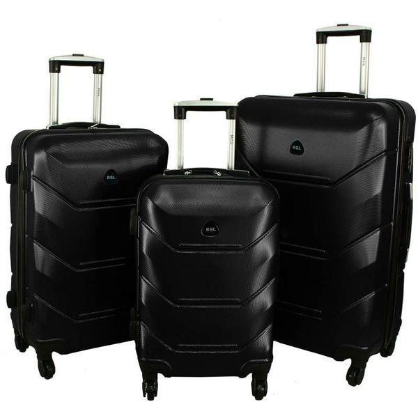 977805c4559d Дорожный Чемодан сумка Carbon 720 набор 3 штуки черный - Интернет магазин  Balos в Днепре