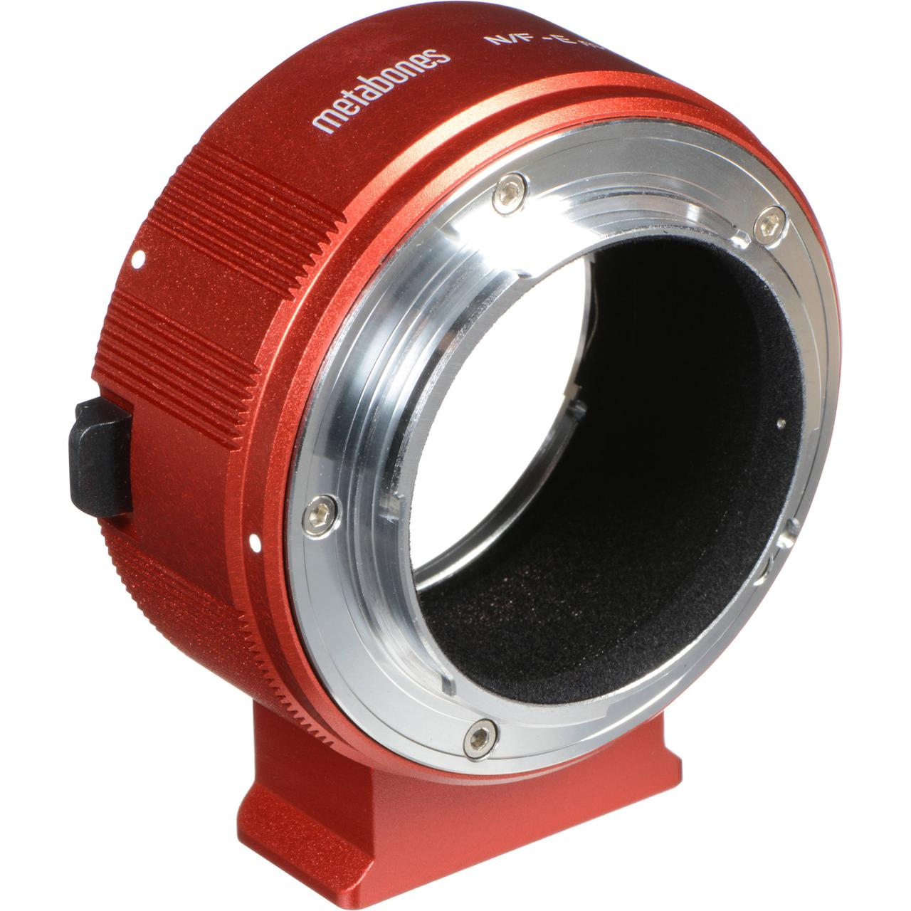 Metabones Nikon F Lens to Sony E-Mount Camera T Adapter II (Red) (MB_NF-E-RT2)