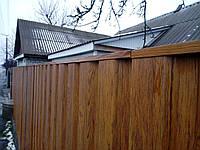 П - планка для профнастила, защитная, Стандарт 2000 мм,  покрытие принт(дерево, камень)