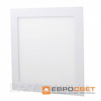 Світильник Евросвет LED-S-300-24 24Вт 4200К квадрат встраиваемый, фото 2