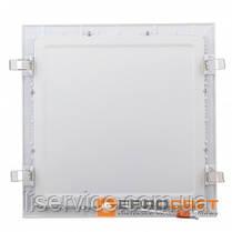 Світильник Евросвет LED-S-300-24 24Вт 6400К квадрат встраиваемый, фото 3