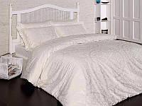 Комплект постельного белья First Choice Satin Cotton Евро Vanessa krem