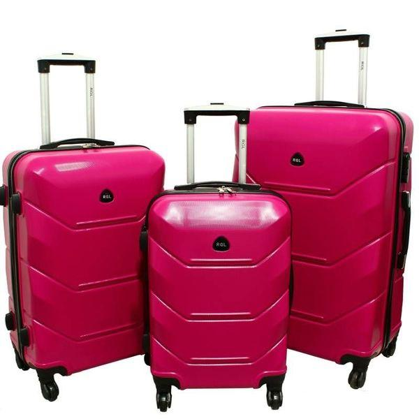 f0c34b41ce1e Дорожный Чемодан сумка Carbon 720 набор 3 штуки розовый Поликарбонат, цена  2 630 грн., купить в Днепре — Prom.ua (ID#783319265)