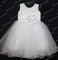 Детское платье бальное Бант (белое) Возраст 3-4г., фото 1