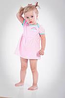Платье-боди, песочник, Радуга, 62, 68, 74, 80, фото 1