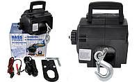 Портативная електрическая лебедка 12V 1500KG 1,5T Компания BASS POLSKA