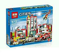 Конструктор Lepin 02052 Город Пожарная часть (аналог Lego City 60110)