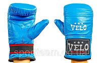 Перчатки снарядные Кожа VELO ULI-4006-B(L) (р. L, синий-белый)