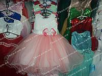 Детское платье бальное Бант (красное) Возраст 3-4г.