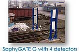 SaphyGATE G система радиационного радиометрического контроля грузовых авто и ж/д, отходов, портальный монитор, фото 5