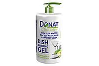 Гель для миття посуду на основі харчової соди DONAT Clean 1 л., диспенсер