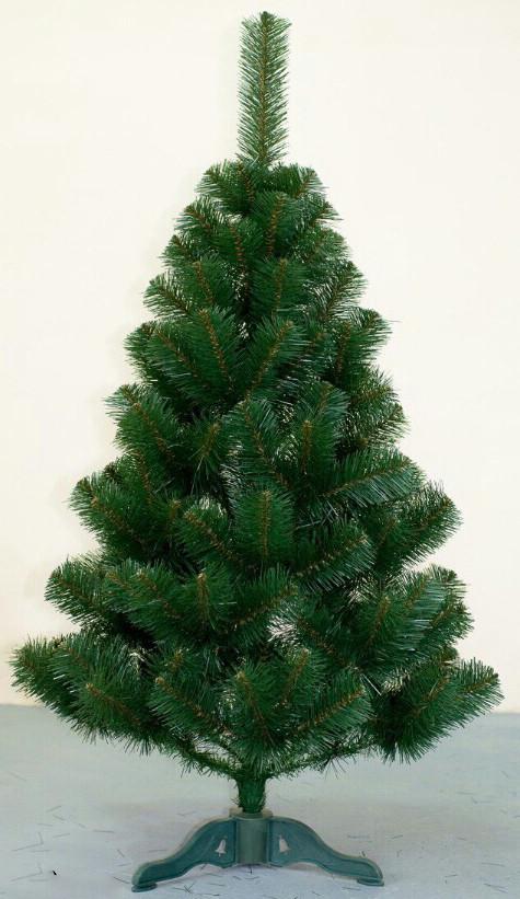 Искусственная елка 1 м с подставкой (ПВХ)