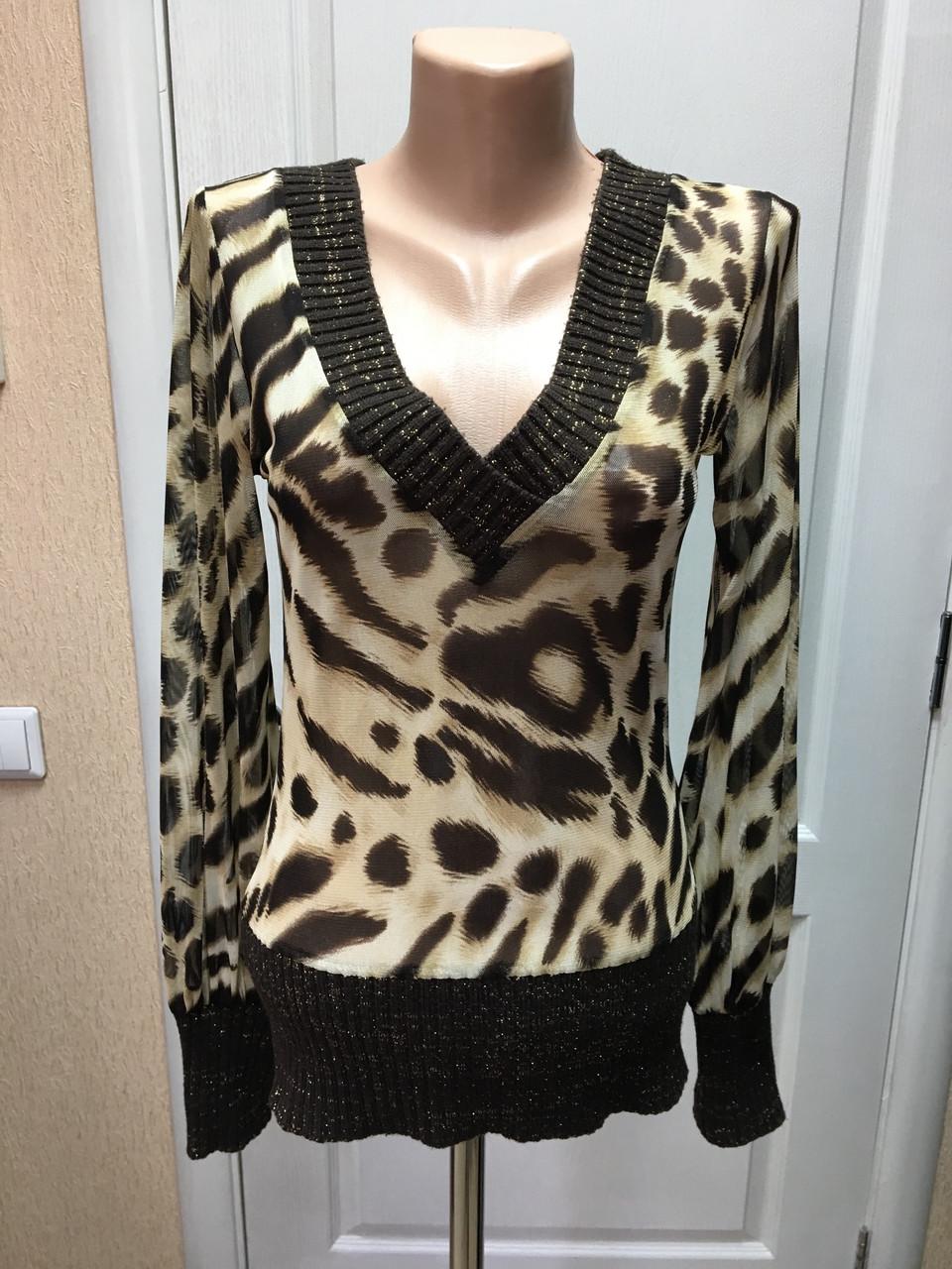 Блуза женская легкая длинный рукав