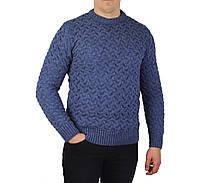 Синий мужской вязаный теплый свитер STENOO