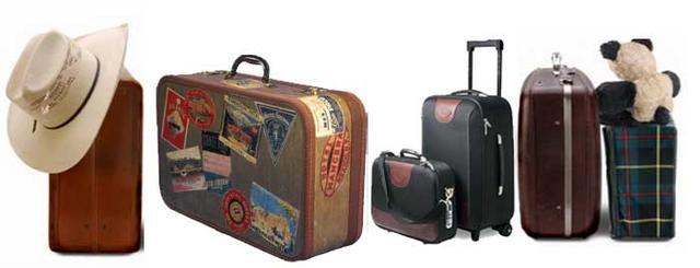 Картинка разных чемоданов