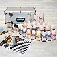 "Сервисный набор для ремонта кожи. Краска для кожи ""Fenice"""