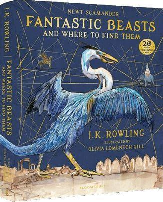 обложка Fantastic Beasts and Where to Find Them Illustrated Edition)