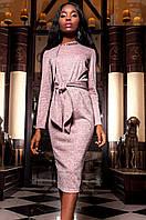 Женское розовое платье Шарлиз Jadone  42-48 размеры