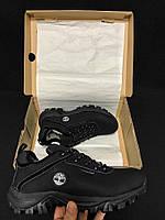 Зимние Мужские Ботинки Timberland низкие черные 0204