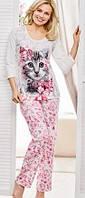 Пижама женская с принтом кошка, Эйвон, размер в ассортименте, Avon