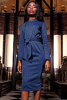 Женское темно-синее платье Шарлиз Jadone  42-48 размеры