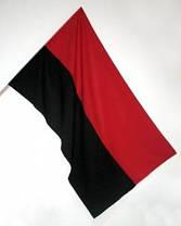 Прапор ОУН, УПА, атласный 150х225см, фото 2