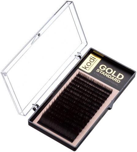 Ресницы для наращивания Kodi Professional Gold, В-0.03 (16 рядов: 6/8/9/10/11/12/13 мм.)