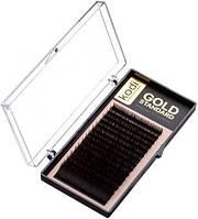 Ресницы для наращивания Kodi Professional Gold, В-0.03 (16 рядов: 10 мм.)