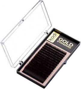 Ресницы для наращивания Kodi Professional Gold, В-0.03 (16 рядов: 8 мм.)