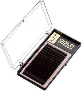 Ресницы для наращивания Kodi Professional Gold, С-0.03 (16 рядов: 9 мм.)