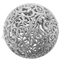 Украшение Шар ажурный 20см (серебро)