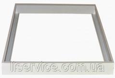 Рамка для монтажа на потолок LED панелей 595х595, 600х600 (материал - нержавеющая сталь, цвет - белый)