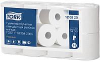 Туалетная бумага мягкая Tork в стандартных рулонах, 8 рулонов, 2сл., 23м.\184л.