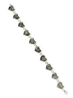 Браслет серебряный с янтарем