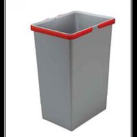 Відро для сміття з ручками COVER BOX 24 л, Elletipi Італія 300х225х440