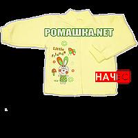 Детская кофточка р. 68 с начесом  демисезонная ткань ФУТЕР 100% хлопок ТМ Алекс 3222 Желтый Б