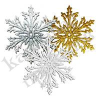 Украшение Снежинка Морозко ажурная 12х12см (ассорти)