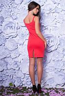 Приталенное женское платье французский трикотаж