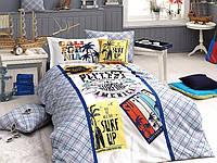 Комплект постельного белья First Choice Ranforce Deluxe 3D полуторный Surf