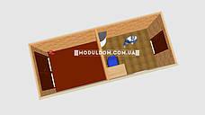 Вагончик под офис (6 х 2.4 м.) со складским помещением, на основе цельно-сварного металлокаркаса., фото 3
