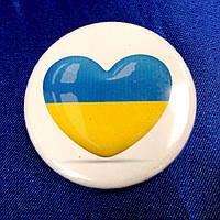 """Значок """"Серце Україна"""""""