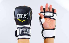 Перчатки для смешанных единоборств MMA PU ELAST BO-4612-BKW(L) (р. L, черный-белый)