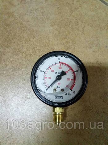 Манометр гліцериновий WIKA max 40 bar , фото 2