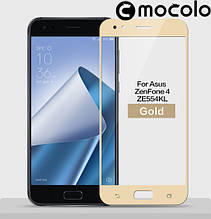 Защитное стекло Mocolo Full сover для Asus Zenfone 4 ZE554KL золотой