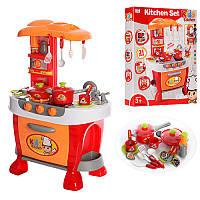 Кухня 008-801A 51-73-30 см, плита, духовка, звук, свет, посуда