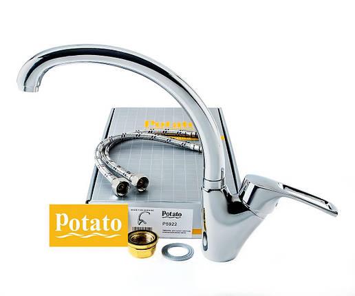 Смеситель кухонный POTATO P5922, фото 2