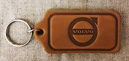 Автомобильный брелок Volvo (Вольво), брелки для автомобильных ключей, автобрелки, брелок кожанный